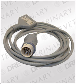 3-Lead Patient Cable for Hewlett Packard Codemaster and Merlin Monitors w/8 Pin Connectors