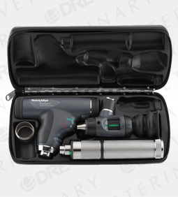 PanOptic Ophthalmoscope, MacroView Otoscope, Convertible Nickel-Cadmium Handle, Hard Case