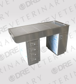 Stainless Steel Sit-Through Procedure Table