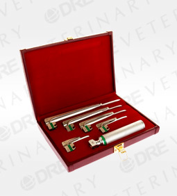 Veterinary Fiber Optic Laryngoscope Set