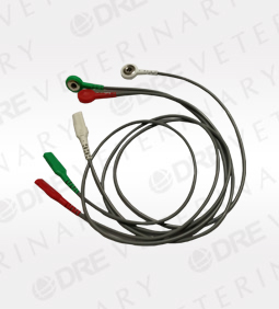 3 Lead ECG Snap To Dual Socket Leadwire Set for Telemetry Use
