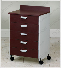 Clinton Mobile Treatment Cabinet with 5 Drawers