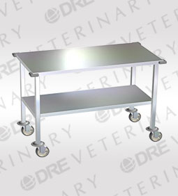 DRE Stainless Steel Mobile Gurney and Supply Transport Table