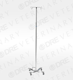 Foot Operated IV Pole with 4-Leg Base
