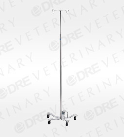 Foot Operated IV Pole with 5-Leg Base