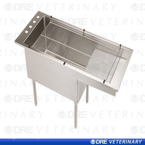 Bi Level Tub Table With Stainless Steel Legs