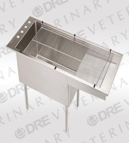 Bi-Level Tub/Table with Stainless Steel Legs