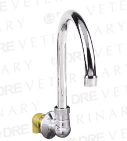 DRE Wall Mount Spout Base with Swivel Gooseneck Spout