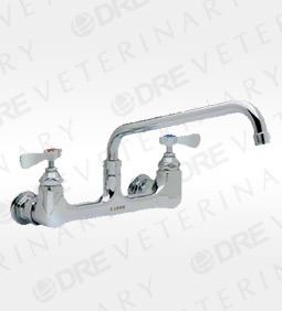 "Wall-Mount Faucet with 10"" Swivel Spout"