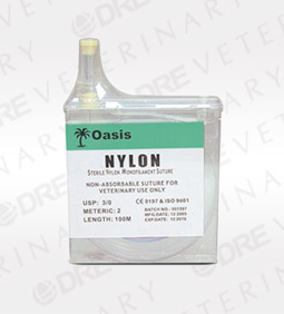 Oasis Nylon Suture Cassette - Needle 0 100M