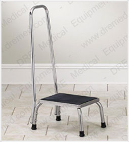 Clinton Stainless Steel Step Stool with Hand Rail