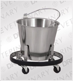 Clinton Medical Kick Bucket and Frame- Stainless Steel