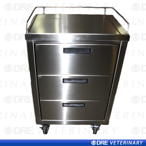 Stainless Steel Mobile Utility Cart With Drawers