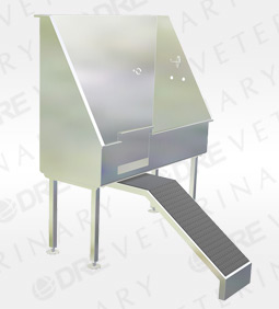 Stainless Steel Bathing Tub with Ramp