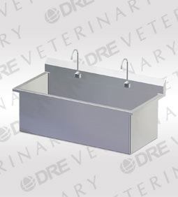 Stainless Steel Double Wide Scrub Sink