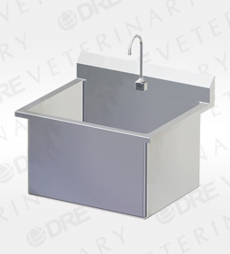 Stainless Steel Single Wide Scrub Sink