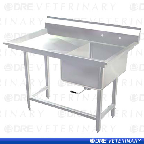 Plastic Utility Sink With Drainboard : Stainless Steel Utility Sink with Drainboard