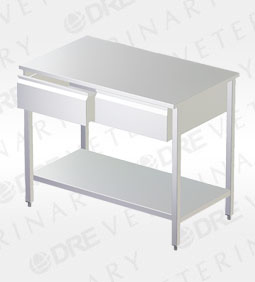 Stainless Steel Exam Table with Drawers