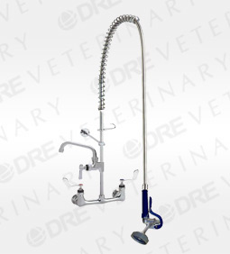 Side Splash Mount Faucet with Swivel Adaptor