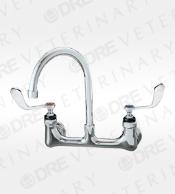 Wing Handled Faucet with Rigid Gooseneck Nozzle