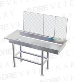 "DRE Economy Stainless Steel 6"" Deep Wet Table"