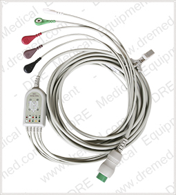 5 Lead ECG Cable for DRE Waveline EZ, Touch, and Pro