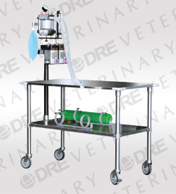 DRE Stainless Steel Gurney with Anesthesia Machine