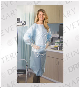CPE Gowns (Cast Polyethylene): Multiple Sizes: 150 gowns per case