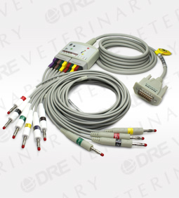 12 Lead ECG trunk Cable with Leadwires kit for DRE True ECG-1