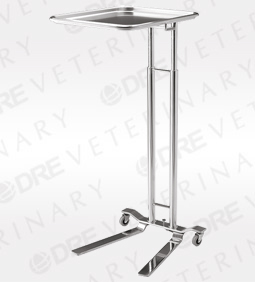 Pedigo 1066 Hand Operated Stainless Steel Mayo Stand