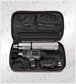 Standard Ophthal, MacroView Oto w/Throat Illuminator, Rechargeable Nickel-Cadmium Handle, Hard Case