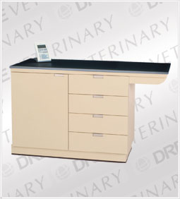 "DRE VSE 2200-42DE: Weigh & Exam Table, Flush Stainless Steel Top:  42"" x 24"""