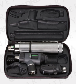 Coaxial Ophthal, MacroView Otoscope, Convertible Nickel-Cadmium Handle, Hard Case