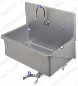 Premium Stainless Steel Scrub Sink