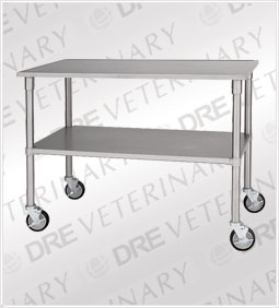 DRE Stainless Steel Mobile Gurney & Supply Transport Table